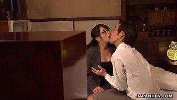 Asian lady with glasses Lady nana fucking her boss till he creams