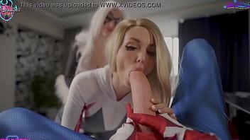 3some lesbian Spiderman porn TEASER