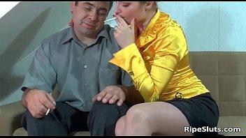 Slutty Mature Girl Takes On Big Stiff