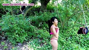 Hot Latin Slut Janeth Rubio Fucks In The Forest.