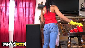 BANGBROS - Sexy, Young Latina Maid Cleans Up A Crazy Client's House thumbnail