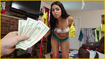 Bangbros sexy young latina maid cleans up a crazy client's house thumbnail