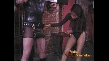 Spank nipple - Kinky stud in a mask enjoys being spanked by an asian harlot