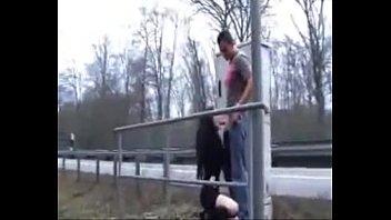 thumb german gets fuc  ked on the highway way hway way