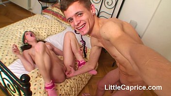 Little Caprice homemade POV sextape with cumshot