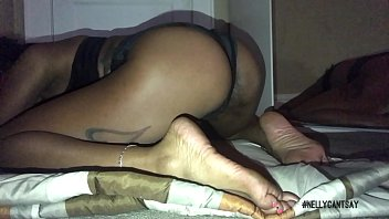 sexy ebony playing with her feet and twerking ass thumbnail