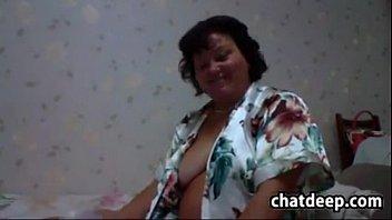 Large Grandmother Masturbates