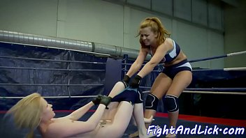 Wrestling lezzie gets ass fingered deeply