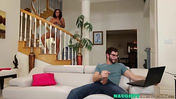 MILF Catches Stepson Jerking Off And Joins To Ride His Dick