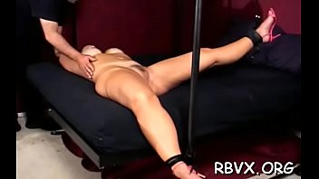 Slut cant move while a man stimulates her pussy with vibrator