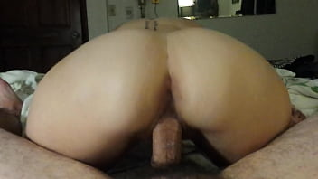 Beautiful view, wife reverse cowgirl