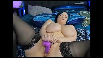 Super big boobs horny girl fucks herself