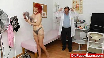 Pussy with redhair Mature gyno with a expander