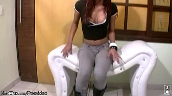 Shemale masturbation movies Full movie of red haired shebabe oiling up her puffy nipples
