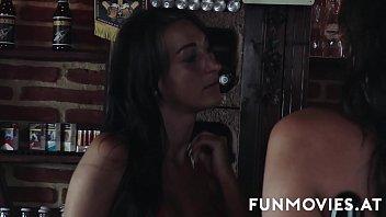 Two sluts drain balls for a taste of cum