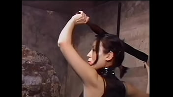 Kinky Asian Dominatrix Whips Sex Slave In Bondage Dungeon