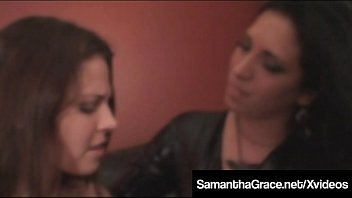 Dominating Samantha Grace Binds & Fondles Slave Cali Logan!