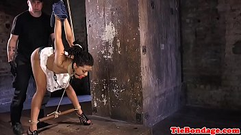 Free nude bdsm hogtied nude - Ebony tied bdsm sub fingered and whipped