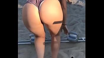 Branquinha na praia