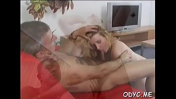 Old dads porn free movies - Stunning old and youthful act with hot babe seducing dad