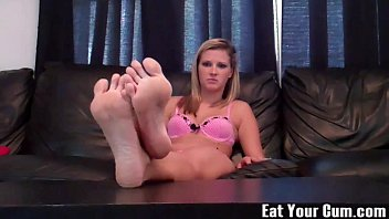 Cum on my feet and then lick then clean CEI