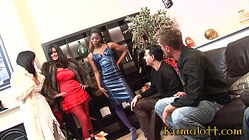 Interracial Group Sex Fuck with Kat Lee and Jasmine Webb 26 min