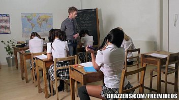 Pigtail students teacher fuck - Brazzers - young school girl does it right