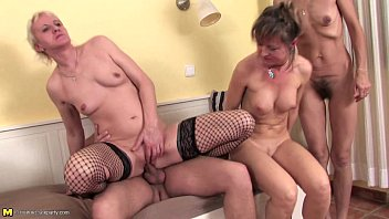 Horny matures having a sexparty with a young dude thumbnail