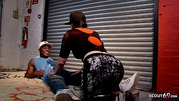 PAWG Saggy Tits Teen Let Homeless Black Guy Fuck Her Public