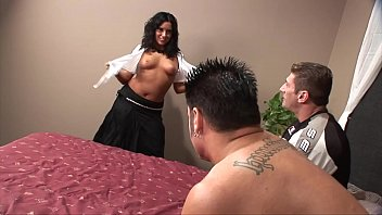 Belly Dancing Teacher Strips And Takes 2 Dicks