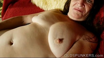 Flabby old tits Beautiful mature brunette fucks her juicy pussy for you