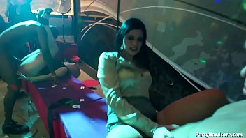 Amateur Czech whore Nikča lets 3 strippers nail her cunt in PHGC 33