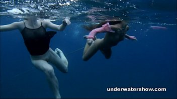 Cartton network adult swim Nastya and masha are swimming nude in the sea