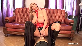 Tits boob milf - Huge tits milf veronica gold in latex lingerie ride on electric big sybian