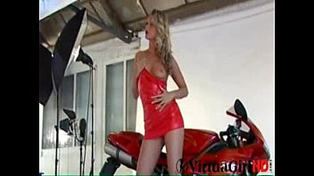 Hot Blonde Biker Chick
