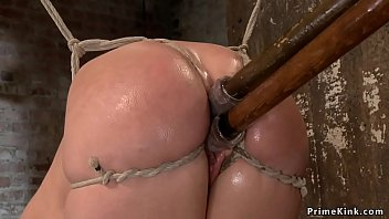 Blonde Girl Tied And Fucked By Machine Sex
