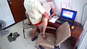 Hidden Camera In Office. Secretary Fucks With Her Boss. Boss Cum On The Slut's Ass. Whore Is Ready To Fuck For A Salary.