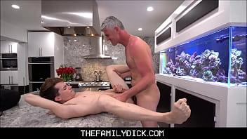 Dad gay kissing son - Twink stepson alex meyer family sex with stepdad bill farnsworth after getting bullied at school