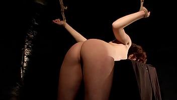 Sexy Zafira White, tied and struggling. BDSM movie.
