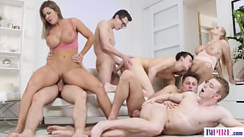 Nasty Bisexual Orgy With Huge Titted Babes