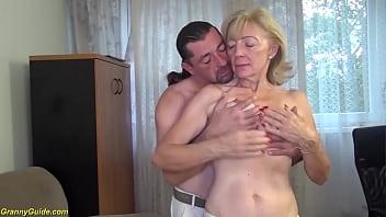 ugly 82 years old grandma needs extreme hard 12 min