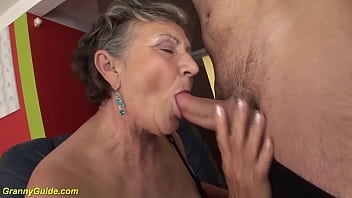 chubby grandma deep fucked by step grandson