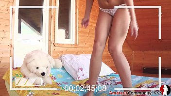 Hippie Babe is naughty with her teddy