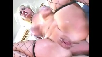 Hot blonde with big boobs Nicki Hunter takes it in the ass on couch