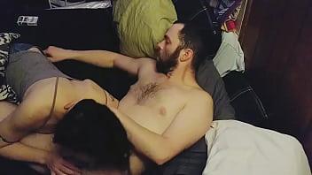 DevilStarrXXX Amateur Passionate Couple Cumming After Deepthroat Blowjob and Extremely Deep Penetration