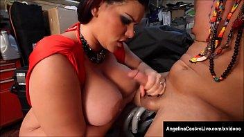 Huge Tits! Thick BBW Angelina Castro Fucked By Hard Latino!