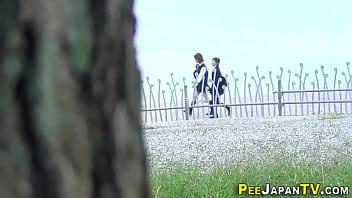 Spied Japanese Teens Pee