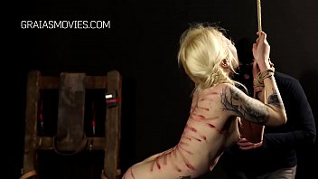 Bull fetish whip - Blonde girl demolished with a whip
