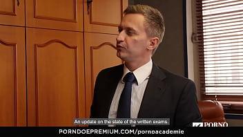 PORNO ACADEMIE - Ukrainian school girl Lola Bulgari has wild anal MMF threesome 10 min