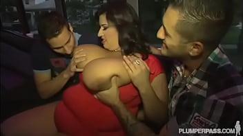 Lusty Latina BBW Sofia Rose Takes On 2 Hard Dicks 2 min